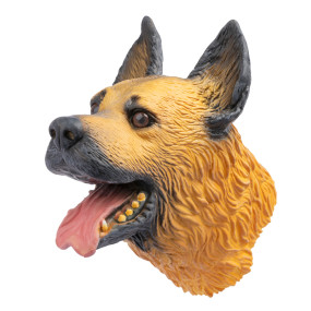 Yolococa Hand Puppet Toys Realistic Latex Animal German Shepherd Children Toys (German Shepherd)
