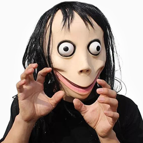 PartyHop - Momo Scary Mask - Creepy Halloween Latex Cosplay Costume for Kids and Adult