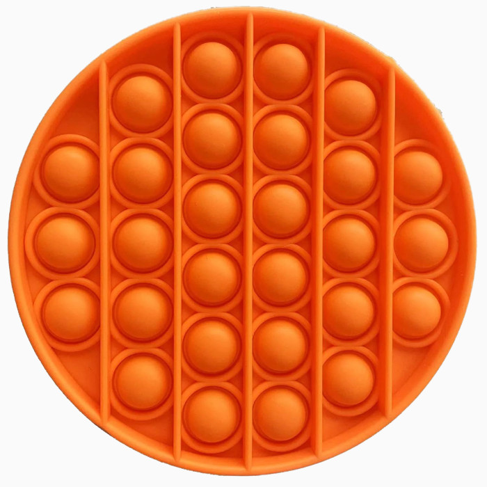 Ipearl Simulates The Feel of Extruded Bubble Paper, Suitable for Alleviating Mental Anxiety and Releasing The Silicone Cushion, Square (Orange)