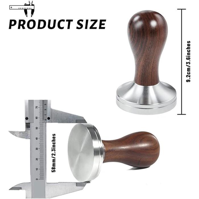 Yolococa 58mm Coffee Tamper Espresso Press with Mat