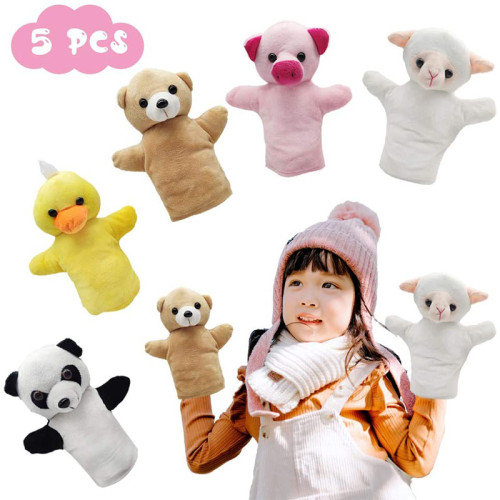 CreepyParty Hand Puppets, Animal Puppet Party Toy Set for Kids Baby, Pack of 5