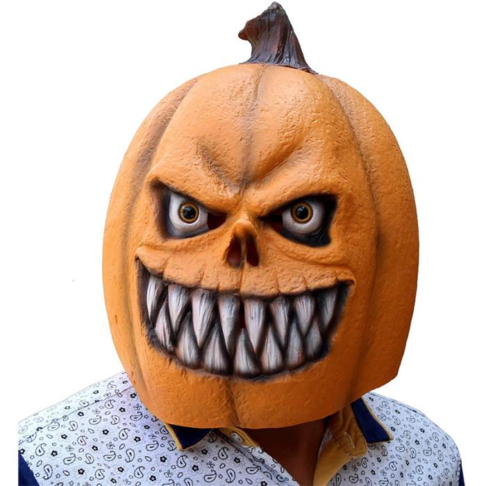 CreepyParty Pumpkin Mask Latex Full Head Realistic Masks For Halloween