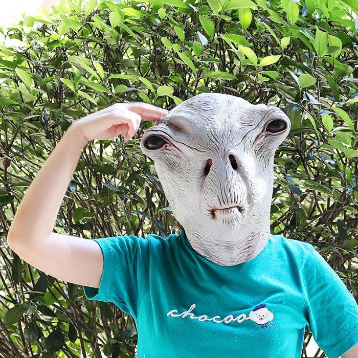 PartyHop Alien Mask Scary Latex Full Head Realistic Masks for Halloween Party Carnival