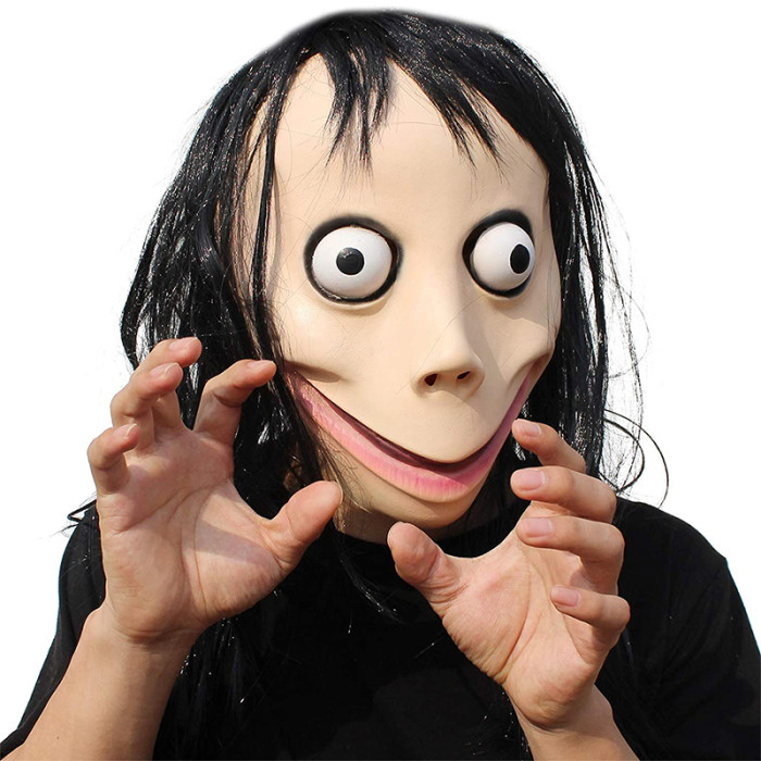 PartyHop Halloween Party Momo Scary Latex Full Head Mask