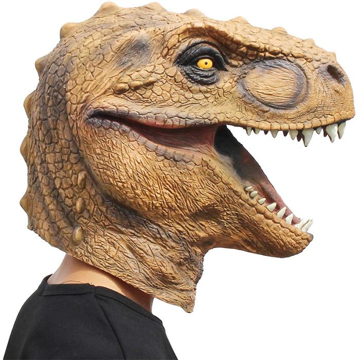 CreepyParty Novelty Halloween Costume Party Animal Jurassic Head Mask (Dinosaur)