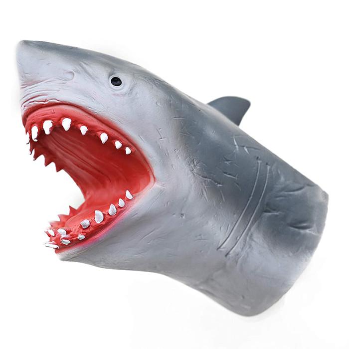 Yolococa Shark Hand Puppet Soft Rubber Latex Realistic Animal Head Toys