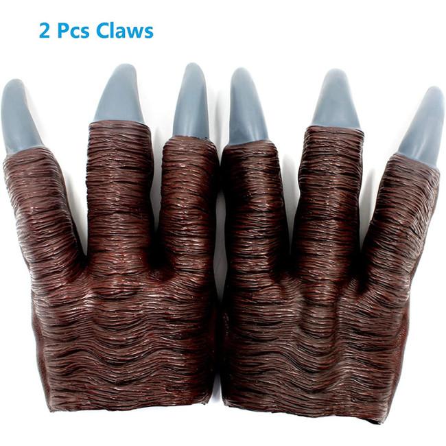 PartyHop - Latex Velociraptor T-rex Dinosaur Claws Cosplay Gloves (2 pcs)