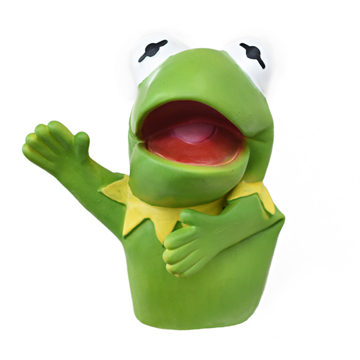 Yolococa Kermit Frog Hand Puppet Soft Rubber Latex Realistic Animal Head Puppets