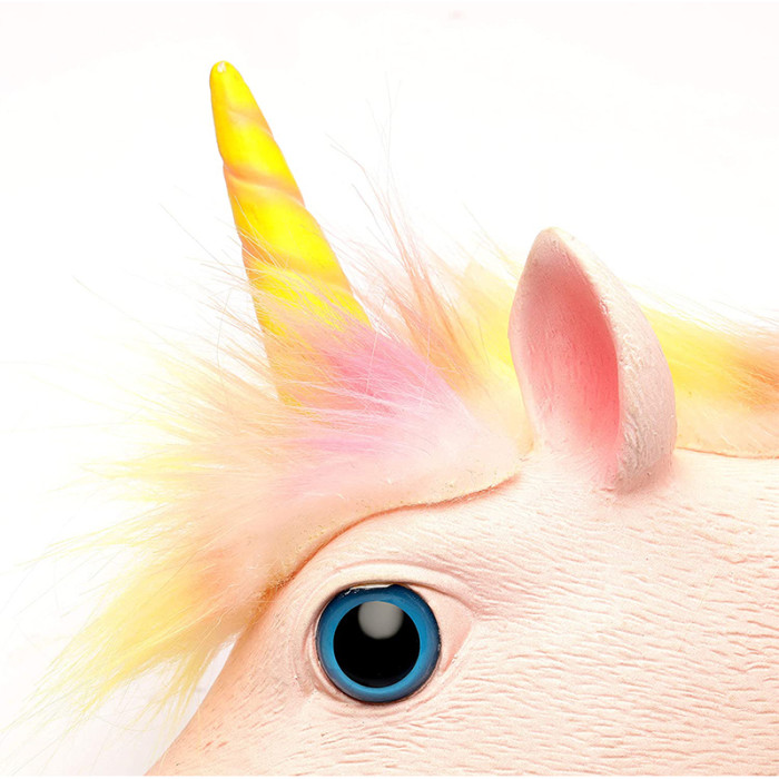 PartyHop Unicorn Mask Animal Latex Full Head Realistic Masks For Halloween Carnival Costume Party