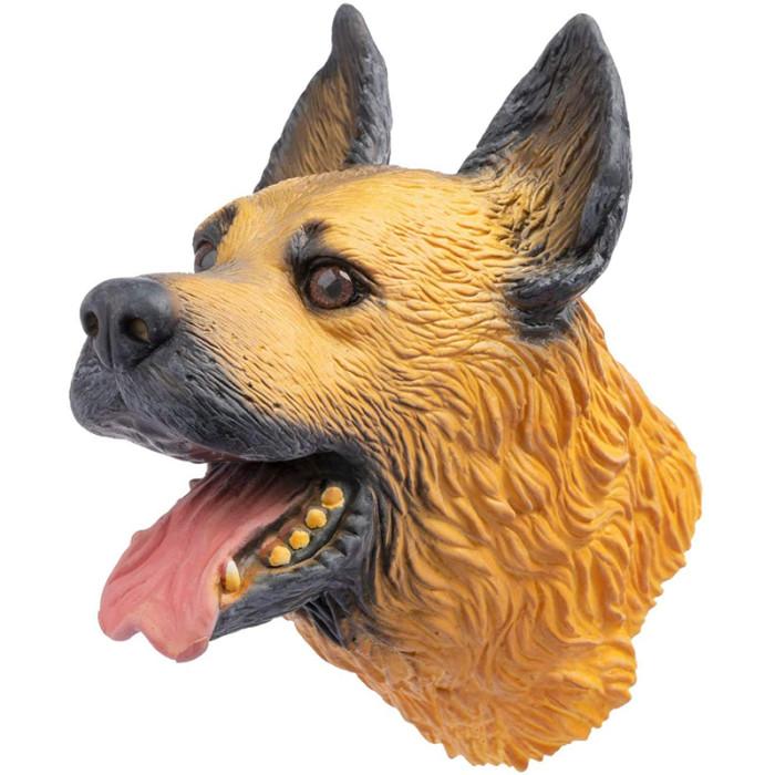 CreepyParty Soft Natural Latex Rubber Animal Dog Hand Puppet Set, Labrador Shiba German Shepherd (3PCS)