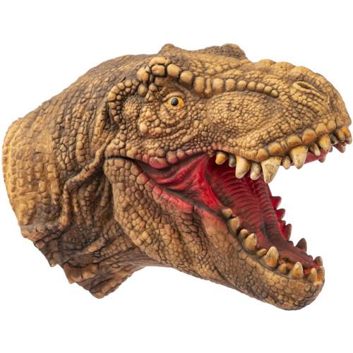 Yolococa Dinosaur Hand Puppet T-rex Puppets Soft Rubber Realistic Raptor Dino Head Tyrannosaurus Rex for Kids,1 PCS