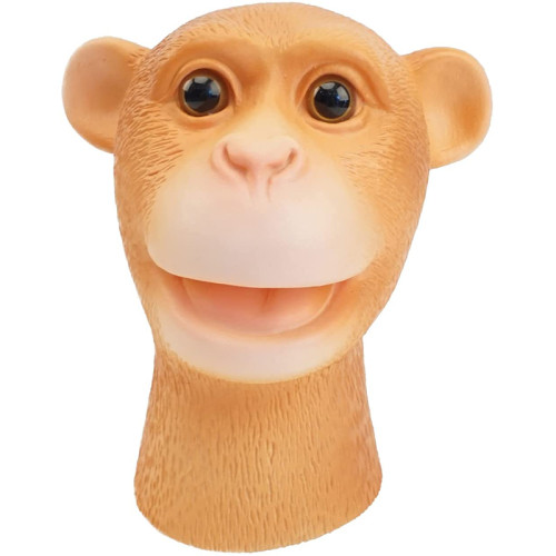 CreepyParty Hand Puppet Toys Soft Rubber Latex Realistic Monkey Animal Head Puppets 1PCS