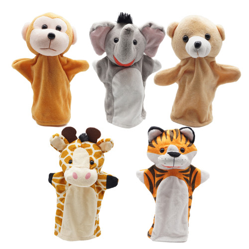 CreepyParty Hand Puppets, Wild Animal Head Puppet Toy Set for Kids Pack of 5