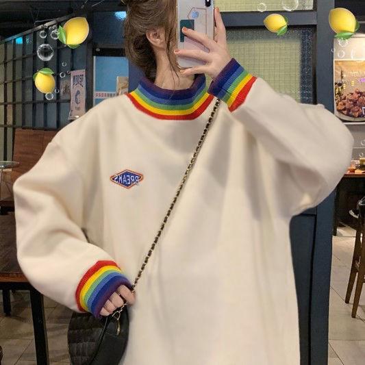 4XL oversize velvet Autumn winter 2020 loose large size Korean style sweatshirt women clothes coat  long sleeve harajuku hoodies