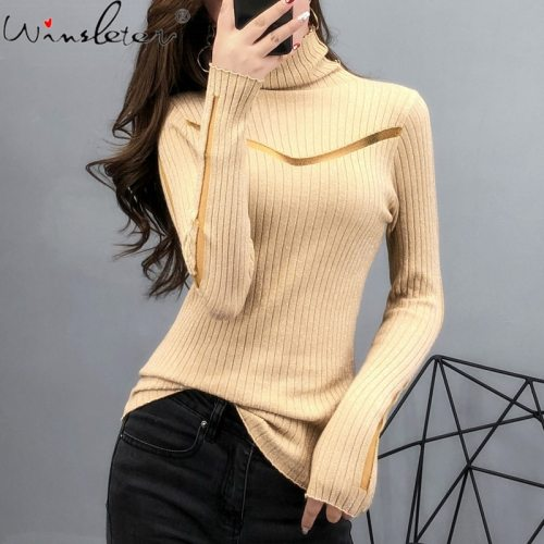 Autumn Winter Sweater Women European Clothes Sexy Shiny Patchwork Transparent Mesh Pullover Ropa Mujer Tops 2020 New M07710