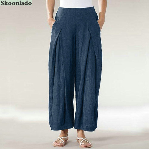 2020 newest women cotton linen pants plus size 5XL oversize high quality lady pants good clothes casual oversea original design