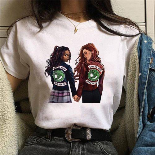 Showtly riverdale t shirt anime LOGO Women T-shirt Korean Fashion Clothing harajuku Streetwear Vogue T-shirts