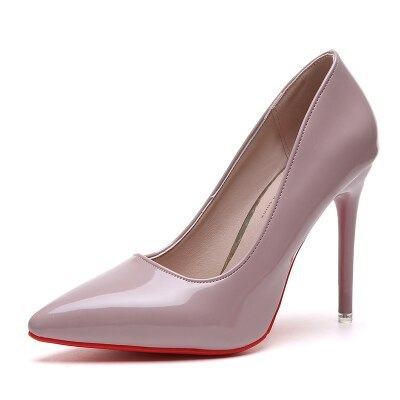 Fashion Sexy Women's Pumps 10CM Pointed Toe Shallow Mouth High Heels 2020 New Office Black Women's Singles Shoes