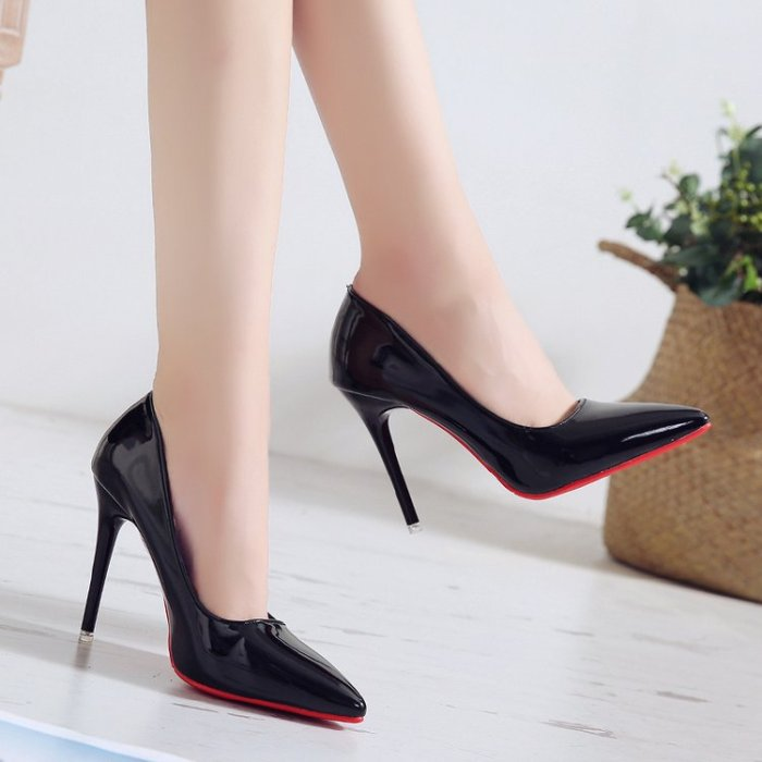 Single shoes women's new style women's shoes autumn European and American style pointed shallow mouth high heel women