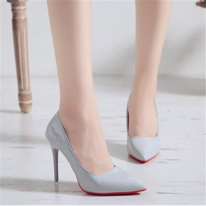 2019 new ultra high heels women's shallow mouth low toe shoes pointed female shoes stiletto work shoes women pumps