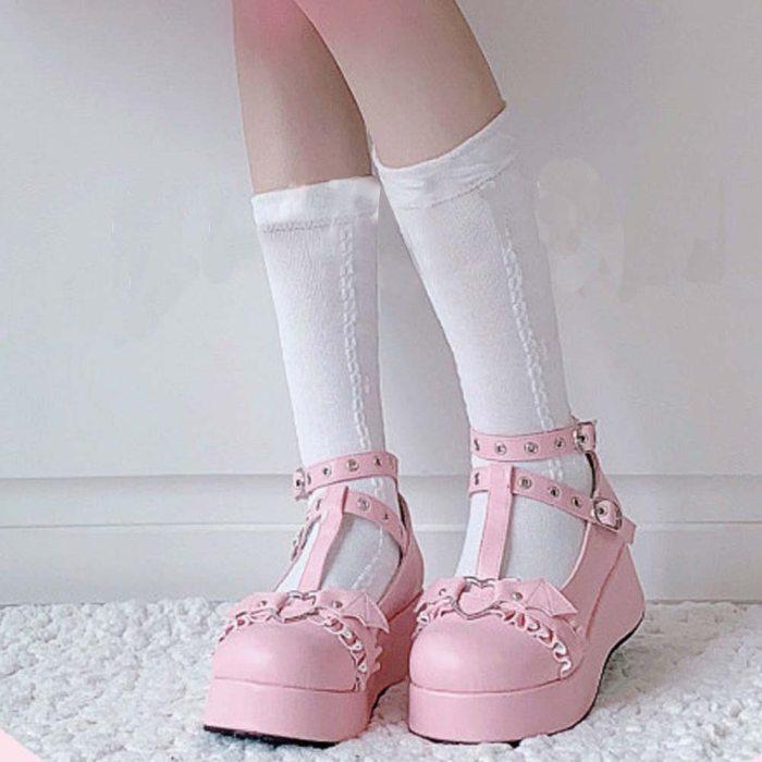 DORATASIA Big Size 35-43 Brand New women's Platform Pumps Cute Sweet High Heels Pumps Gothic Cosplay Lolita Wedges Shoes Woman