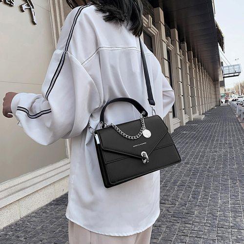Small Square Bags For Women Messenger Bag 2021 Chains Girl's Handbag Casual Wild Lady Shoulder Bag Cross Body Female Bag Black
