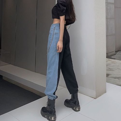 New Summer Vintage Jeans Woman Long Trousers Cowboy Female Loose Streetwear High Waist Women Jeans Split Clothes Wide Leg Jeans