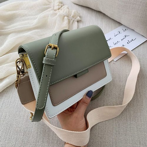 Mini Leather Crossbody Bags For Women 2020 Green Chain Shoulder Simple Bag Lady Travel Purses and Handbags  Cross Body Bag