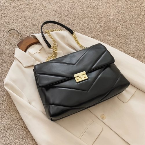 Fashion Large-capacity Large PU Leather Crossbody Bags for Women 2020 Winter New Handbag Luxury Designer Chain Shoulder Bag