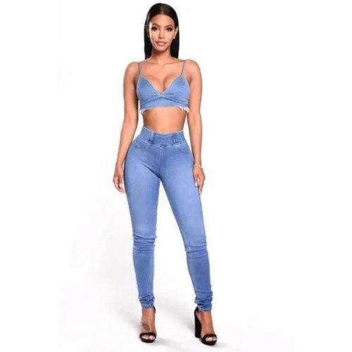 Fashion Lattice Hollow Hip-hop Pants Women's Jeans Club Autumn High Waist Loose Street Style Contrast Pants Mix and Match