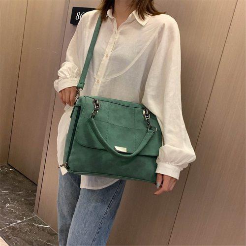Matte Ladies Handbag Scrub Women's Shoulder Crossbody Bag Large Capacity PU Leather Casual Tote Travel Handbag Boston Female Bag