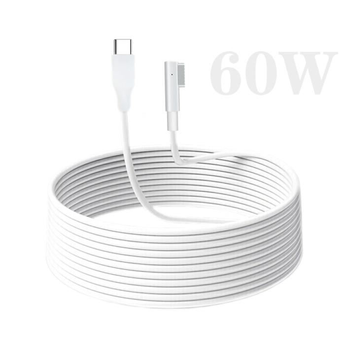 60W USB C Type C-磁気充電ケーブル PD to Magsafe1充電器充電ケーブル
