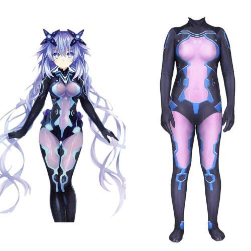 Hyperdimension Neptunia Cosplay Kostüm Damen Jumpsuit Halloween Karneval Outfits