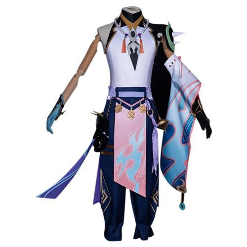 Genshin Impact Xiao Cosplay Kostüm Set Karneval Halloween Kostüm
