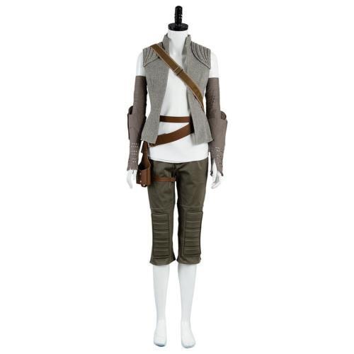 Star Wars 8 Die letzten Jedi Rey Outfit Cosplay Kostüm