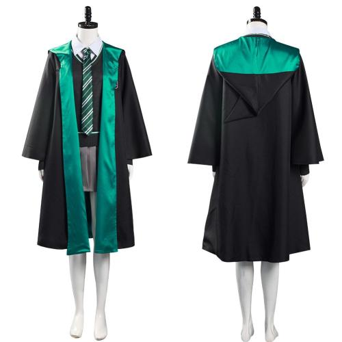Harry Potter Slytherin Cosplay Kostüm webliche Schuluniformen Halloween Karneval Outfits