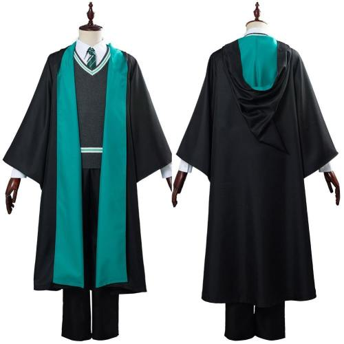 Harry Potter Schuluniform Cosplay Kostüm Haus Slytherin Robe Halloween Karneval Kostüm