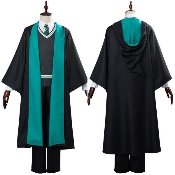 Harry Potter Schuluniform Cosplay Kostüm Haus Slytherin Robe Halloween Karneval Kostüm