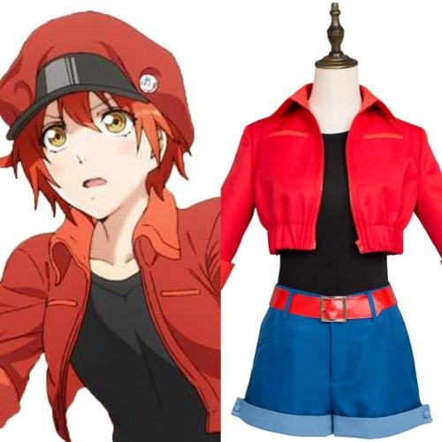 Cells at Work ! Erythrocite Red Blood Cell Cosplay Kostüm NEU