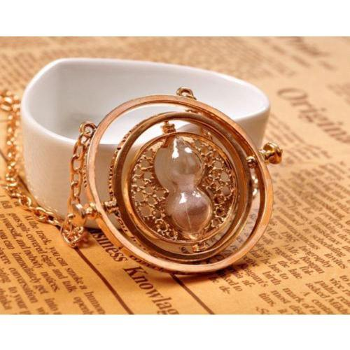 Harry Potter Hermione Granger Time Turner Rotating Hourglass Halskette Pendant Necklace Requisite