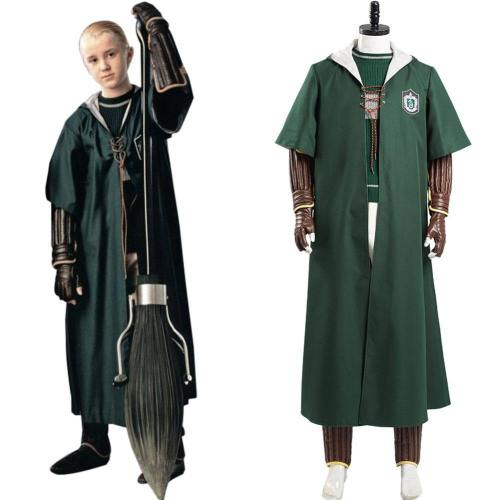 Harry Potter Slytherin Quidditch Cosplay Kostüm Schuluniform Outfits Halloween Karneval Kostüm