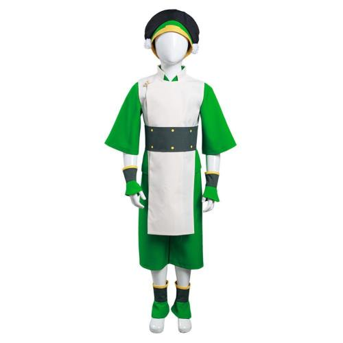 Kinder Avatar Toph Beifong Kostüm The Last Airbender Der Herr der Elemente Cosplay Kostüm