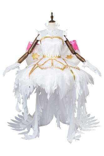 Card captor Sakura:Clear Card Sakura Kinomoto Snow Angel Cosplay Kostüm