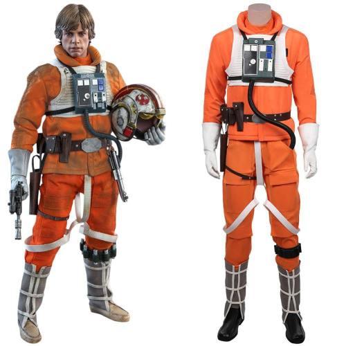 Star Wars-Luke Skywalker Pilot Uniform Cosplay Kostüm Jumpsuit Halloween Karneval Kostüm