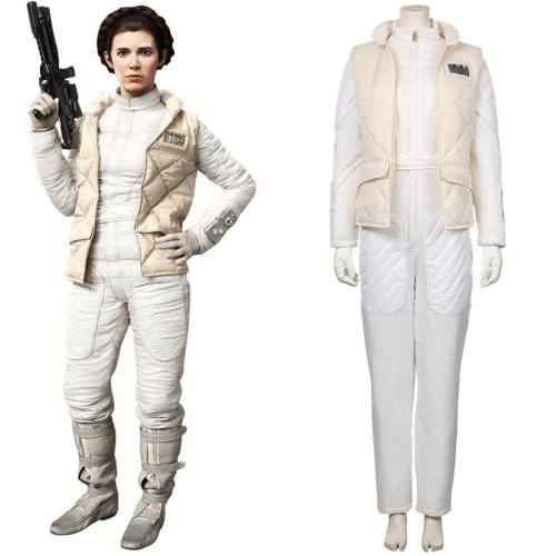 Star Wars Leia Organa Solo Jedipedia Cosplay Kostüm Jumpsuit Halloween Karneval Kostüm