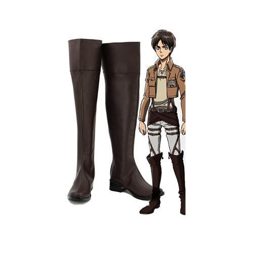 Shingeki no Kyojin Attack on Titan Eren Jaeger Cosplay Schuhe Stiefel Maßarbeit
