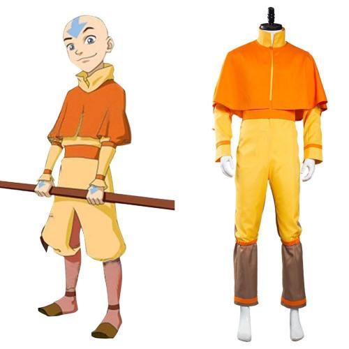 Avatar The Last Airbender Avatar Aang Cosplay Kostüm Jumpsuit Halloween Karneval Kostüm