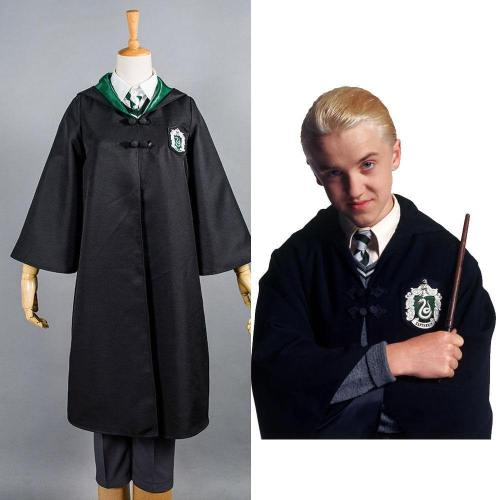Kinder Harry Potter Slytherin Uniform Draco Malfoy nur Umhang Cosplay Kostüm