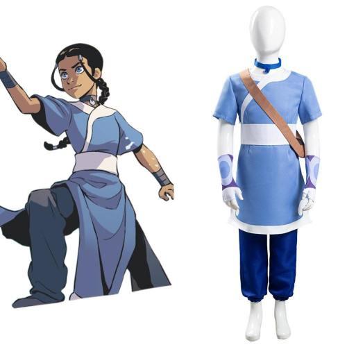 Avatar – Der Herr der Elemente Katara Cosplay Kostüm Kinder Mädchen Halloween Karneval Kostüm