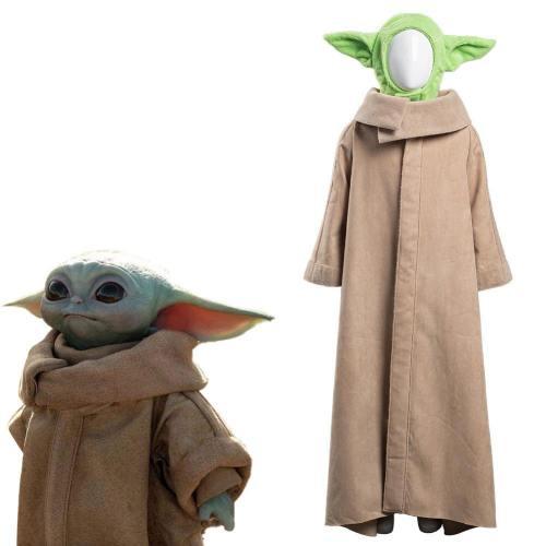 The Mandalorian - Baby Yoda Kinder Kostüm Cosplay Kostüm Robe Outfits Halloween Karneval Kostüm